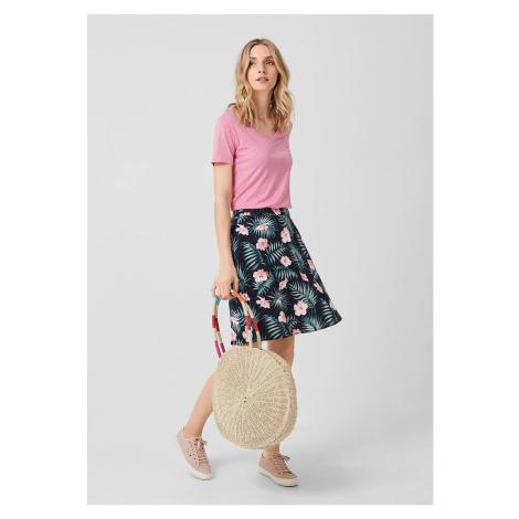 s.Oliver lněná sukně s květinovým potiskem 14.905.78.2852/59C6