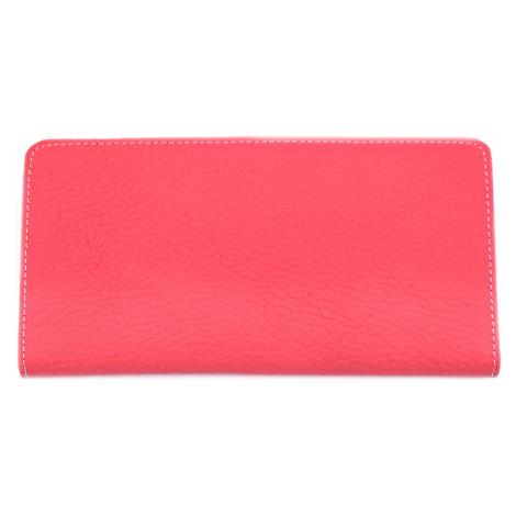 Dámská/pánská kožená dokladovka k uložení kreditních karet a dokladů - tmavě růžová Arteddy