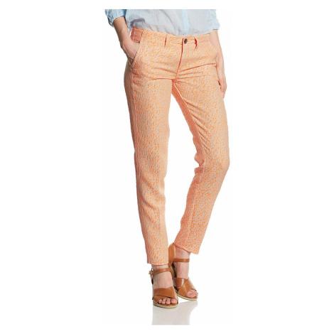 Guess GUESS dámské kalhoty s oranžovým motivem