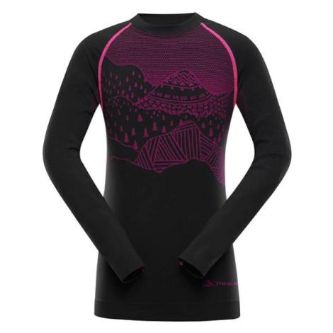 Krioso 5 růžová dětské funkční prádlo-triko ALPINE PRO