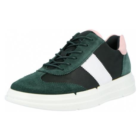 ECCO Tenisky tmavě zelená / bílá / pink