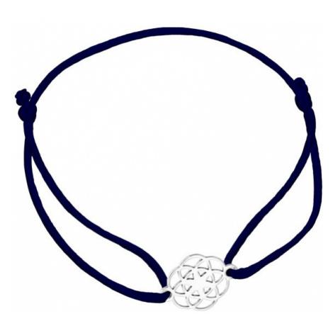 Praqia Šňůrkový černý kabala náramek Mandala KA6202