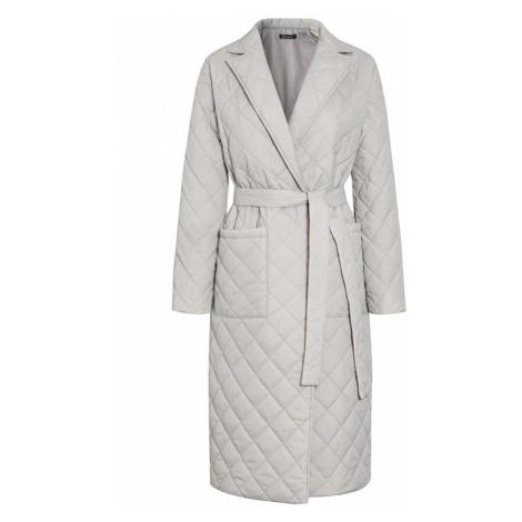 Dámský dlouhý prošívaný kabát FashionEU