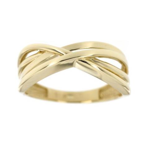 Dámský prsten ze žlutého zlata 2414