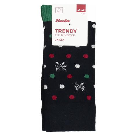Vánoční ponožky s motivem vloček