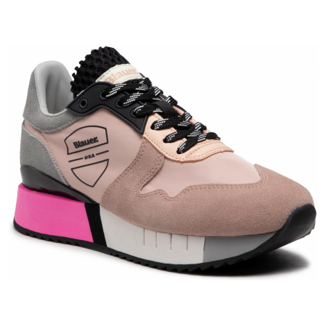 Sneakersy BLAUER - S1MYRTLE02/NYL Nude/Grey