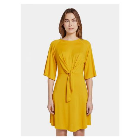 Hořčicové dámské šaty Tom Tailor