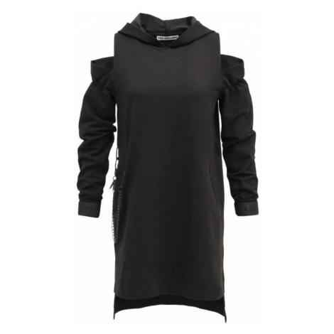 #VDR Nero šaty s kapucí