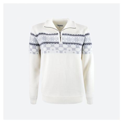 Kama 5007-101 merino svetr přírodně bílý