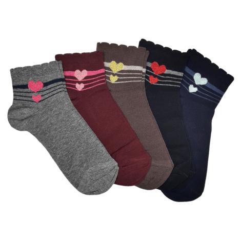 Turgadesign Kotníkové ponožky Srdíčko Barva: Černá