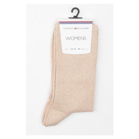 Tommy Hilfiger zlaté třpytivé ponožky Glitter