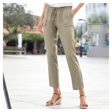 Blancheporte 7/8 vzdušné kalhoty khaki