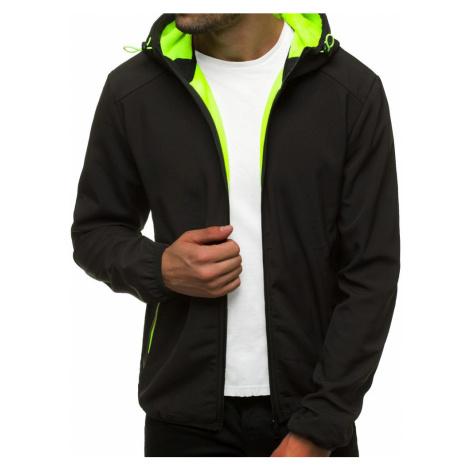 Černá softshell bunda s kapucí JS/KS2189