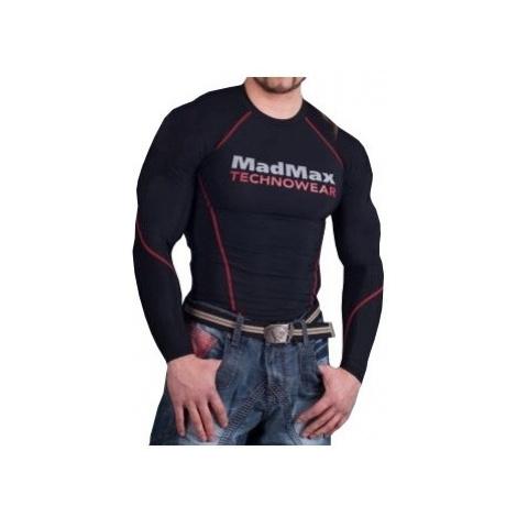 MadMax Kompresní triko s dlouhým rukávem MSW902 černočervené