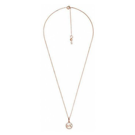 Michael Kors Bronzový náhrdelník s třpytivým přívěskem MKC1108AN791 (řetízek, přívěsek)
