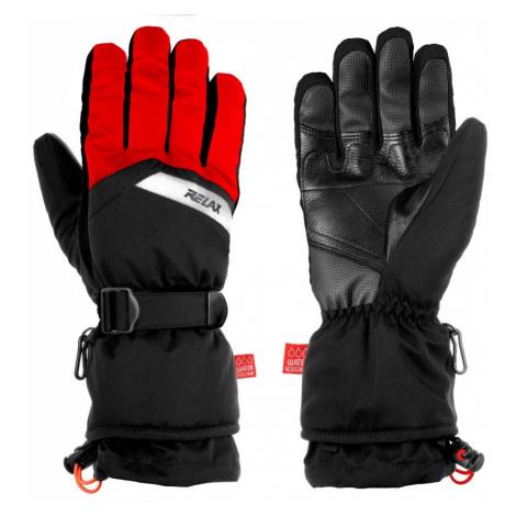 Pánské lyžařské rukavice Relax FRONTIER - černo-červená