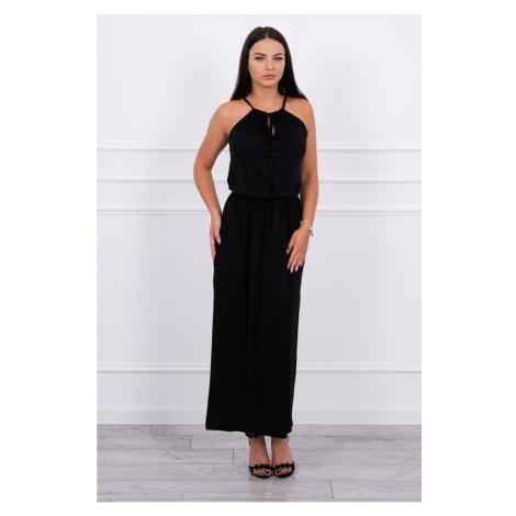 Boho dress with fly black Kesi