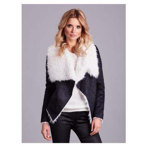 Black faux fur jacket Fashionhunters