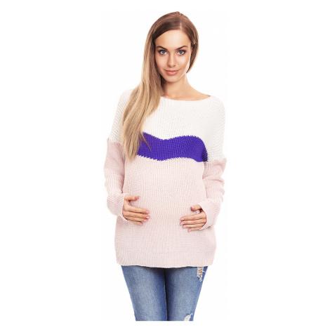 Růžovo-fialový těhotenský pulovr 40023 PeeKaBoo