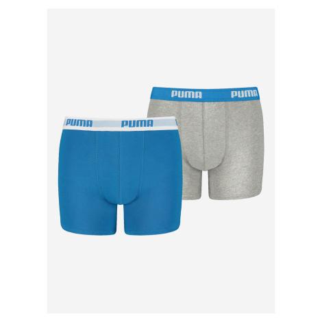 Boxerky 2 ks dětské Puma Modrá