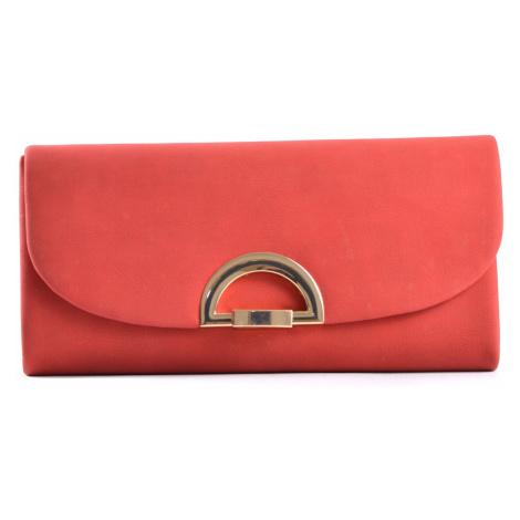 Společenská kabelka - psaníčko s klopnou syntetická červená, 25 x 5 x 13 (IT17-SHD615-00TX)