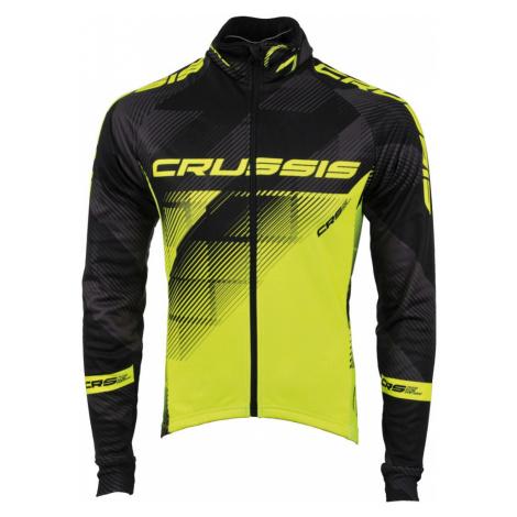 Pánská Cyklistická Bunda Crussis Černo-Fluo Žlutá