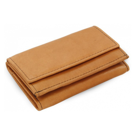 Světle hnědá dámská kožená mini peněženka Athena Arwel