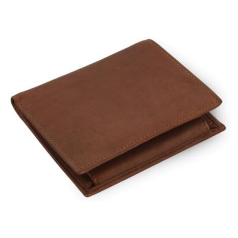 Tmavě hnědá pánská kožená peněženka Jordan Arwel