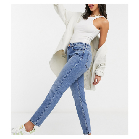 Reclaimed Vintage The 90s straight leg jean in mid stone wash-Blue