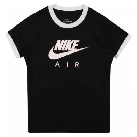 Nike Sportswear Tričko bílá / černá / světle béžová