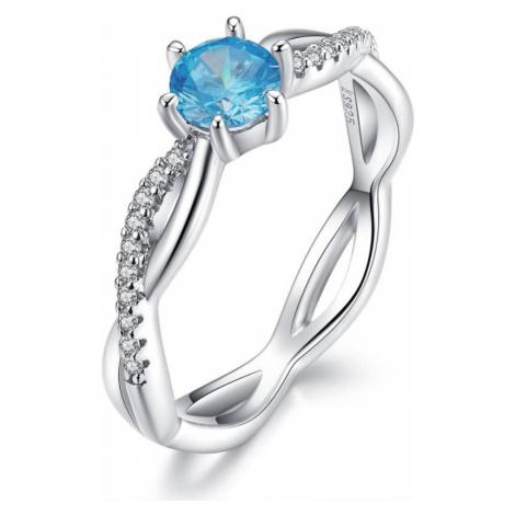 Linda's Jewelry Stříbrný prsten Sapphire Propletení IPR051 Velikost: 56