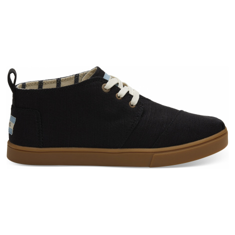 Black Heritage Canvas Women Bota Boot Toms