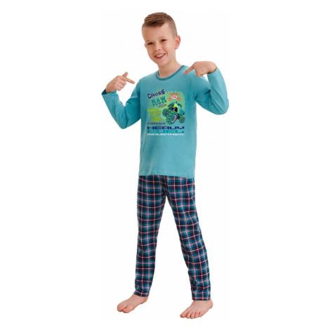 Taro Klučičí pyžamo Leo cross power modré