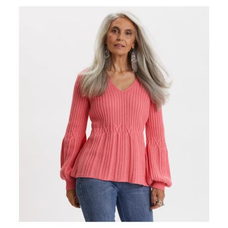 Svetr Odd Molly I Speak Heart Sweater - Růžová