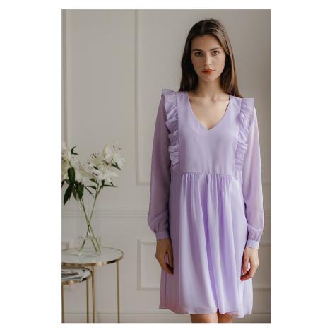 Světle fialové šaty L083 Lenitif
