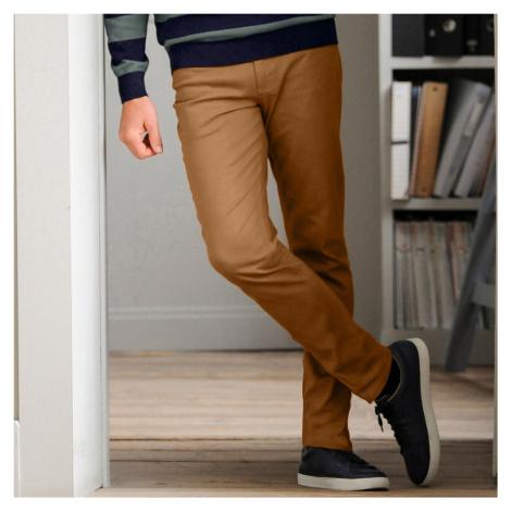Blancheporte Rovné tvilové kalhoty s 5 kapsami, bavlna okrová