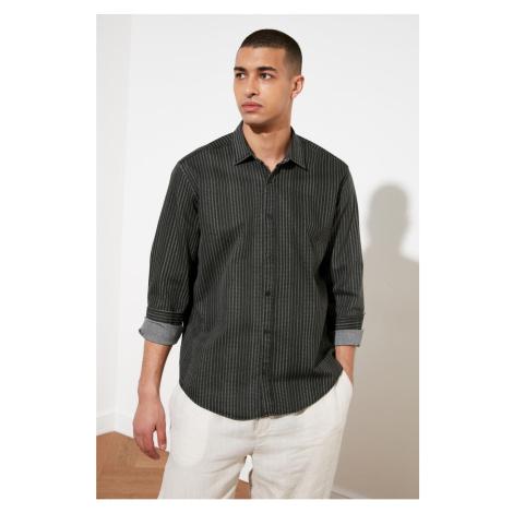 Trendyol Black Male Printed Pocketless Regular Fit Shirt