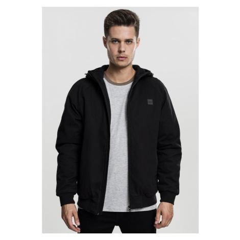 Hooded Cotton Zip Jacket - black Urban Classics