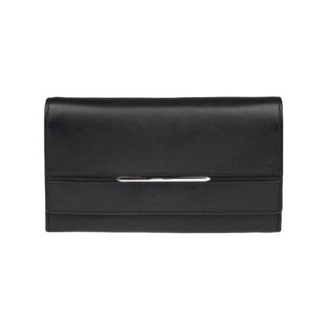 Lagen 9530 černá dámská kožená peněženka Černá