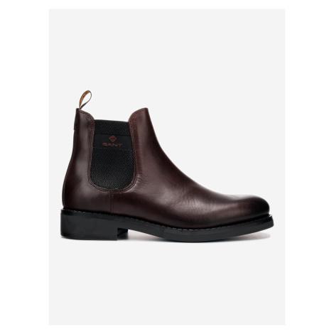 Brookly Kotníková obuv Gant Hnědá