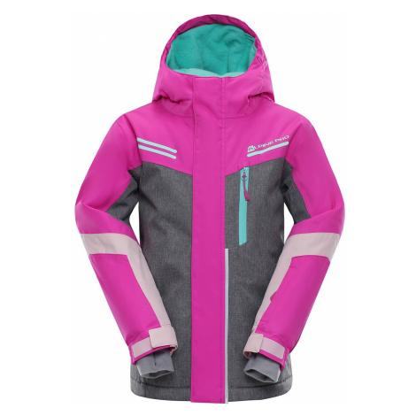 Dětská bunda Alpine Pro SARDARO - růžová