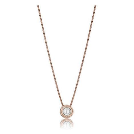 Victoria Walls Půvabný bronzový náhrdelník s perlou VN1091R