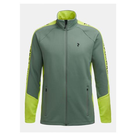 Mikina Peak Performance M Rider Zip Jacket - Zelená