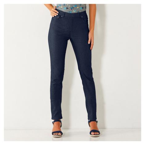 Blancheporte Strečové kalhoty nám.modrá