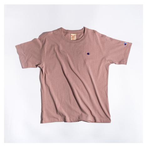Růžové tričko Crewneck T-Shirt Champion