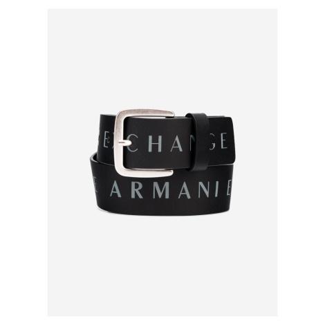 Pásek Armani Exchange Černá