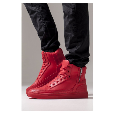 Zipper High Top Shoe - fire red Urban Classics