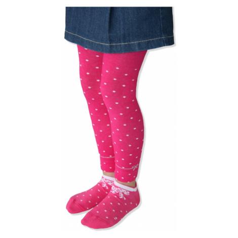Design Socks   puntík mašlička   světle růžová