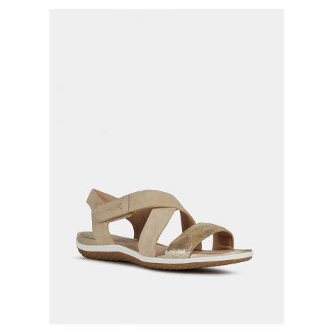 Geox béžové kožené sandály