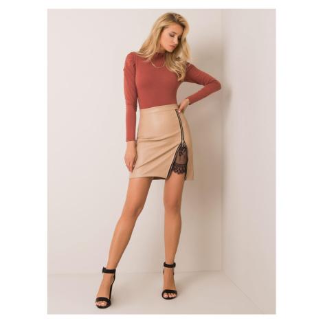 Velbloudí sukně z umělé kůže FPrice